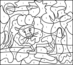 Printable Color By Number Coloring Pages Home On