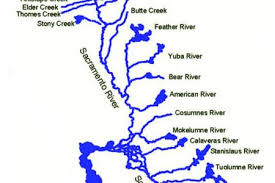 H Exam Feather And Sacramento Rivers Watersheds Map Of California Springs