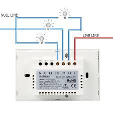 smart wall light switch broadlink 220v 3 touch panel wi fi