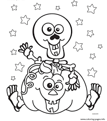 Halloween Skeleton Pumpkin Coloring Pages Print Download 320 Prints