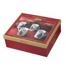 Spode Christmas Tree Mug And Coaster Set by Spode Christmas Tree Mug Set Of 4 Spode Uk