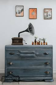 Dresser Painted With Chalk PaintR Decorative Paint By Annie Sloan In The Color Old Violet Los Angeles CA Stockist Arora Boheme Deidre
