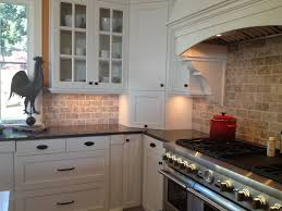 Kitchen Countertop Decorating Ideas Pinterest by Picture Of Kitchen Travertine Backsplash With White Cabinets And