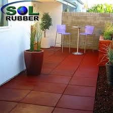 Durable Resilient Rubber Flooring Paver