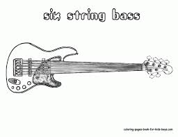 Electric Guitar Coloring Page Pages