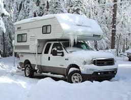 Truck Camper In Snow