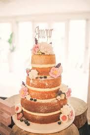 Naked Cake Sponge Layer Flowers Rustic Secret Garden Wedding Helenrussellphotographyco