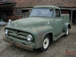 1955 FORD F100 STEPSIDE PICKUP SERVICE TRUCK PROJECT .RUNS