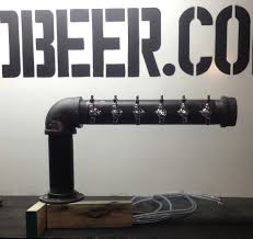 Perlick Beer Tap Tower by Black Iron L Shaped Beer Tower Www Tappedbeer Com Tapped Beer