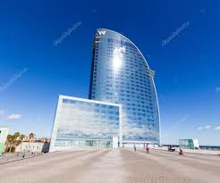 100 The W Barcelona Spain View Of The Hotel Stock