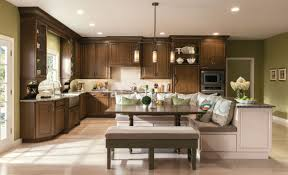 Masco Cabinets Las Vegas by This Kitchen Featuring Kraftmaid U0027s New Hazel Stain And Chai Paint