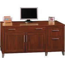 bush furniture somerset 60w computer credenza hansen cherry