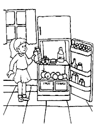 Coloring Page Kitchen Room Buildings And Architecture 6