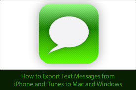 How to Export iPhone Text Messages to Mac or Windows