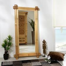 details zu bambusspiegel baram abaca gross standspiegel wandspiegel bambus holz spiegel spa