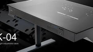 lian li s motorized standing desk doubles as a beefy gaming pc cnet