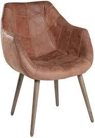 4x armlehnenstuhl stuhl leder braun mit holzbeinen