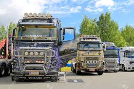 HAMEENLINNA, FINLAND - JULY 11, 2015: Volvo FH Show Trucks With ... To Fit Volvo Fh Fm Series 2 3 6pc Door Handle Cover Set Steel Bumpers New And Used Parts American Truck Chrome Man Trucks Radiator Grill Truck Grill Accsories Black Stylish Semi Truck With Chrome Accsories Individual Design Freightliner Bumper Cascadia W Factory Elite Accsories Cathcart Auto 52016 F150 Putco Window Trim Review Install Youtube Mr Kustom Customizing Homepage Wheel Simulators Led Lights Capital City Customs Hameenlinna Finland July 11 2015 Show With Fender Top Of Bed Rocker Panels Flaps