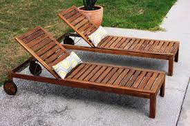 Image Of Double Teak Lounge Chair