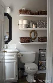 Half Bathroom Ideas For Small Spaces by Best 25 Decorating Bathroom Shelves Ideas On Pinterest Half