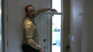 Front Door Sidelight Curtain Rods by Sidelight Window Treatments Youtube