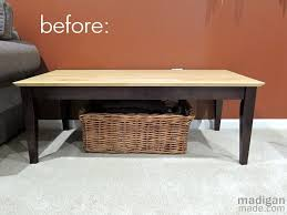 making an upholstered bench from a coffee table diy talent