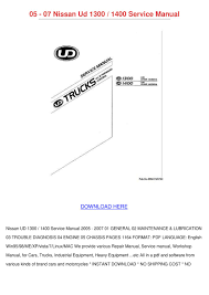 05 07 Nissan Ud 1300 1400 Service Manual By KaylaJanssen - Issuu Shop Manual F150 Service Repair Ford Haynes Book Pickup Truck F For Chevy Number 24065 Automotive Mitsubishi Fuso Canter Truck Service Manual Pdf Ford Ranger 9311 Mazda B253b4000 9409 Haynes 1960 Shop Complete Factory Authorized Isuzu Npr Diesel 4he1 Tc Hd Nqr Volvo Impact 2016 Bus Lorry Parts Repair Renault Manuals 2005 Auto Repair Forum 1993 Download Lincoln All Models 2000