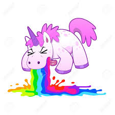 Unicorn Puking Rainbow Stock Vector
