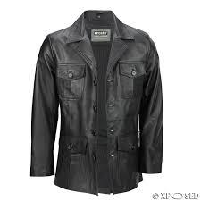 mens black brown real leather 3 4 mid length retro vintage