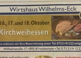 wirtshaus wilhelms eck wilhelmstraße 17 heidenheim an der