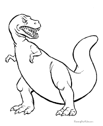 Tyranasauras Rex Free Clipart Coloring Book Pages