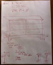 woodworking dresser plans