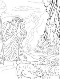 God Speaks To Moses From The Burning Bush Coloring Page Category Select 27007 Printable Crafts Of Cartoons Nature Animals Bible And Many
