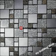grey black glass wall tiles kitchen backsplash ssmt308 resin