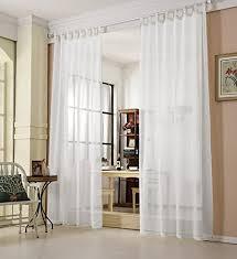 woltu vh5864ws gardinen transparent mit schlaufen leinen landhaus optik schlaufenschal vorhang stores voile fensterschal für wohnzimmer