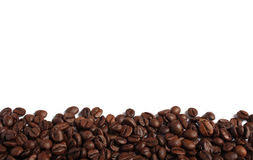 Coffee Beans Isolated On White Royalty Free Stock Photos