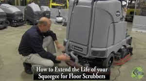 Commercial Floor Scrubbers Australia by How To Maintain A Floor Scrubber Squeegee By Nitco Product