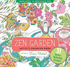 Zen Garden Adult Coloring Book 31 Stress Relieving Designs Artists Books Peter Pauper Press 9781441320063 Amazon