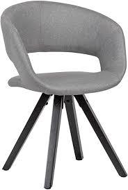 finebuy esszimmerstuhl hellgrau stoff mit schwarzen beinen retro stuhl küchenstuhl mit lehne polsterstuhl maximalbelastbarkeit 110 kg