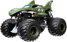 Hot Wheels Monster Jam Shark Shock Die-Cast Vehicle 1:24 Scale ...