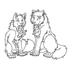 Wolf Coloring Pages 21
