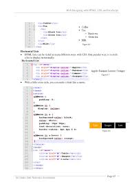 31 Web Designing With HTML CSS