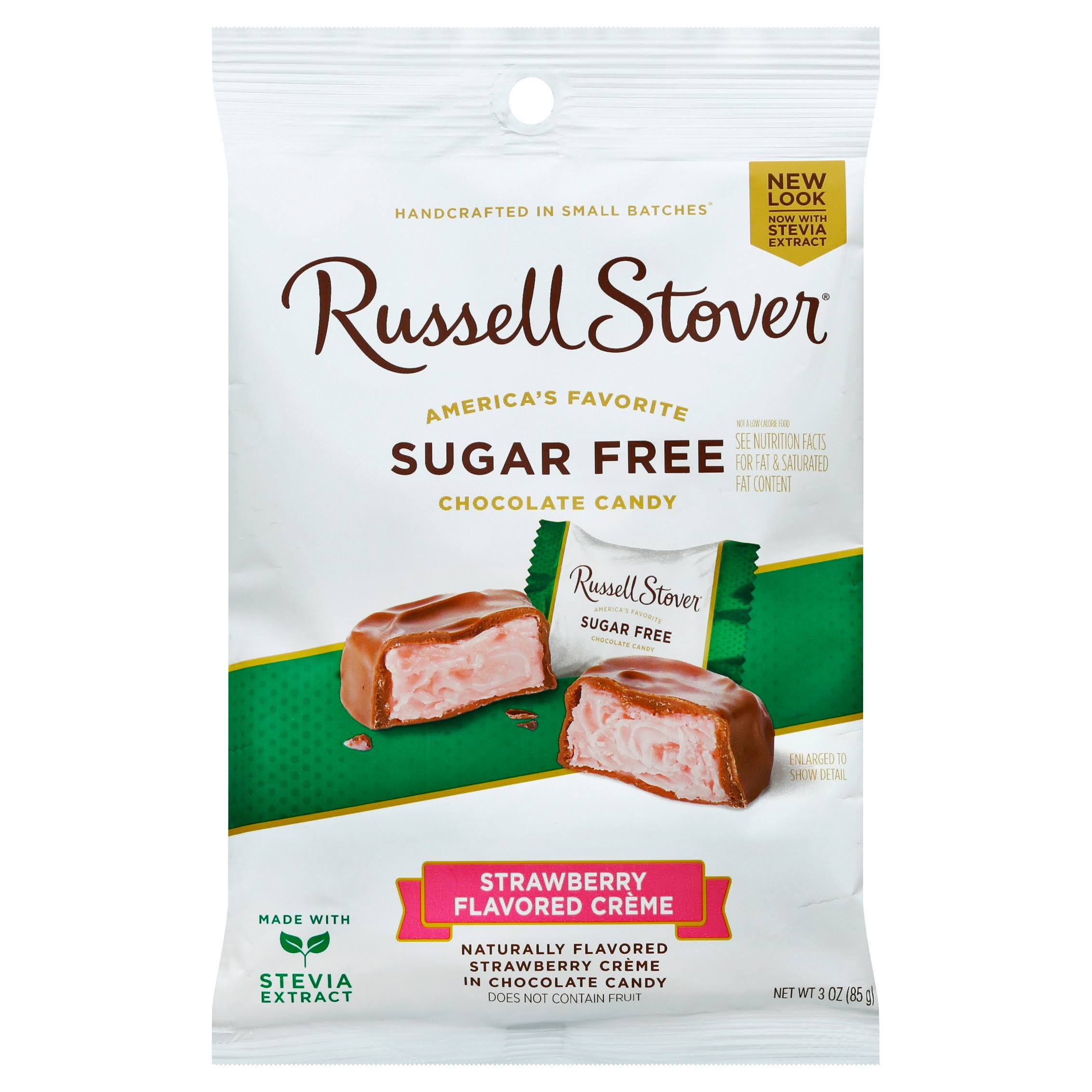 Russell Stover Sugar Free Peg Bag Candy - Strawberry Cream, 3oz
