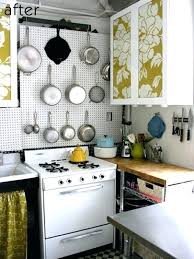 Cool Small Kitchen Ideas Apartment Storage Cute With A Pegboard