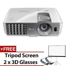 benq w1070 full hd 3d home video projector 3d glasses tripod