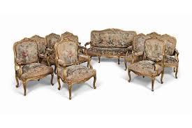 canape louis 15 a giltwood salon suite of louis xv style late 19th century