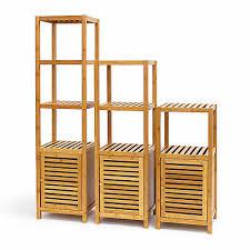 badregal bambus mit tür standregal holzregal mit 3 4 oder 5
