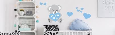 stickers ours chambre bébé stickers oursons et nounours pour bébé fille ou garçon ambiance