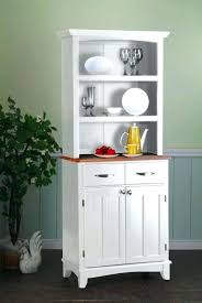 White Dining Hutch Buffet Room Cabinets Modern Small Kitchen