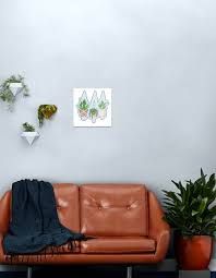 makramee hängende pflanzen grafik metallbild